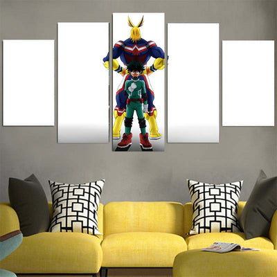Izuku Midoriya & All Might Canvas - My Hero Academia 3D Printed Canvas