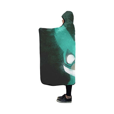 Izuku Midoriya Green Costume Hooded Blanket - My Hero Academia 3D Printed Hooded Blanket