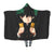 Izuku Midoriya in Darkness Hooded Blanket - My Hero Academia 3D Printed Hooded Blanket