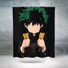 Izuku Midoriya in Darkness Shower Curtain - My Hero Academia 3D Printed Shower Curtain