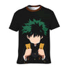 Izuku Midoriya in Darkness T-Shirt - My Hero Academia 3D Printed T-Shirt