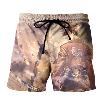 Jean Kirschtein Brown Shorts - Attack on Titan Shorts
