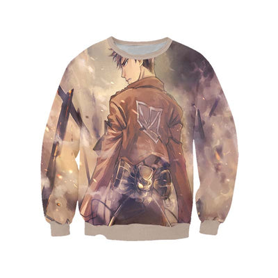 Jean Kirschtein Brown Sweatshirt - Attack on Titan 3D Printed Sweatshirt