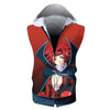 Kallen Stadfeld Hooded Tank - Code Geass 3D Printed Sleeveless Hoodie
