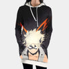 Katsuki Bakugou Hooded Dress - My Hero Academia 3D Printed Hoodie Dress