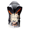 Katsuki Bakugou Hooded Tank - My Hero Academia 3D Printed Sleeveless Hoodie