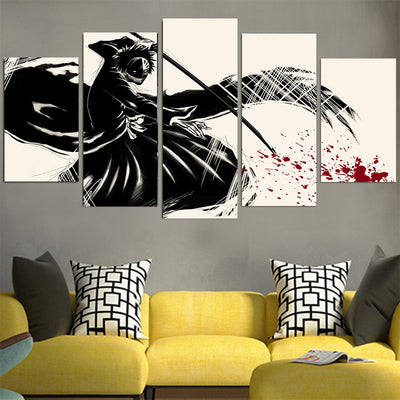 Kenpachi Zaraki Black Canvas - Bleach 3D Printed Canvas