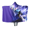 Killua Zoldyck Purple Hooded Blanket - Hunter x Hunter 3D Hooded Blanket