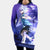 Killua Zoldyck Purple Hooded Dress - Hunter x Hunter 3D Printed Hoodie Dress