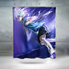 Killua Zoldyck Purple Shower Curtain - Hunter x Hunter 3D Printed Shower Curtain