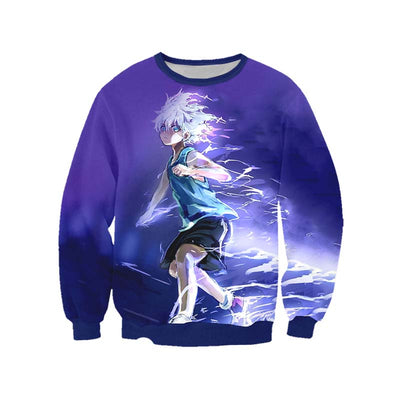 Killua Zoldyck Purple Sweatshirt - Hunter x Hunter 3D Printed Sweatshirt