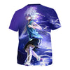 Killua Zoldyck Purple T-Shirt - Hunter x Hunter 3D Printed T-Shirt