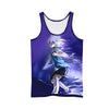 Killua Zoldyck Purple Tank Top - Hunter x Hunter 3D Tank Top