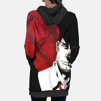 Kurosaki Isshin Hooded Dress - Bleach 3D Printed Hoodie Dress