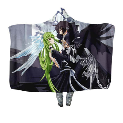 Lelouch & C.C Hooded Blanket - Code Geass 3D Printed Hooded Blanket
