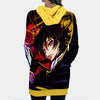 Lelouch Colorful Hooded Dress - Code Geass 3D Printed Hoodie Dress