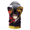 Lelouch Colorful Hooded Tank - Code Geass 3D Printed Sleeveless Hoodie