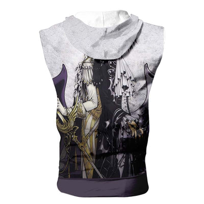 Lelouch & Suzaku Hooded Tank - Code Geass 3D Printed Sleeveless Hoodie