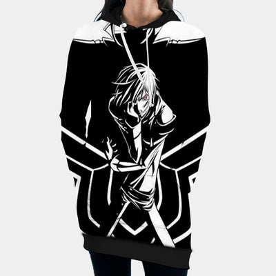 Lelouch Uses Geass Hooded Dress - Code Geass 3D Printed Hoodie Dress