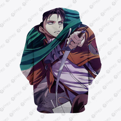 Levi Attack On Titan Hoodie- Attack On Titan 3D Hoodie