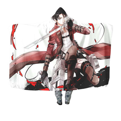 Levi Doing an Epic - Attack On Titan 3D Printed Hooded Blanket