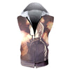 Light Yagami Hooded Tank - Death Note 3D Printed Sleeveless Hoodie