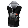 Light Yagami in Darkness Hooded Tank - Death Note 3D Printed Sleeveless Hoodie