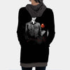 Light Yagami in Darkness Hooded Dress - Death Note 3D Printed Hoodie Dress