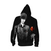 Light Yagami in Darkness Hoodie - Death Note Zip Up Hoodie