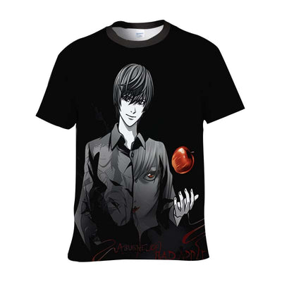 Light Yagami in Darkness T-Shirt - Death Note 3D Printed T-Shirt