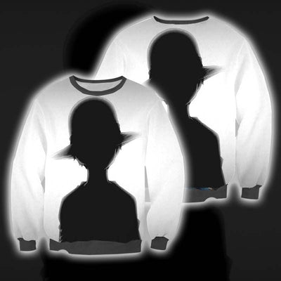 Luffy Black & White Sweatshirt - One Piece 3D Printed Sweatshirt