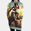 Mikasa Ackerman Sky Fighting - 3D Printed Attack On Titan Hoodie Dress