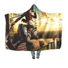 Mikasa Ackerman Sky Fighting - Attack On Titan 3D Printed Hooded Blanket