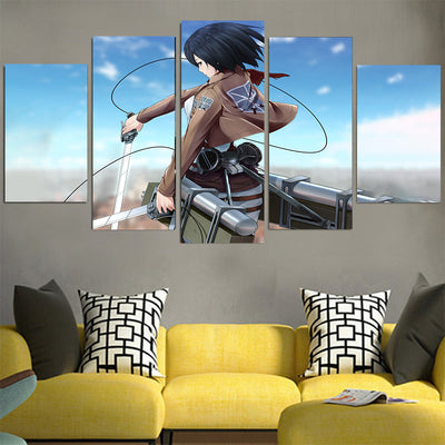Mikasa Ackerman with Mobility Gear Canvas - Attack On Titan 3D Printed Canvas