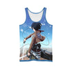 Mikasa Ackerman with Mobility Gear Tank Top - 3D Printed Attack On Titan Tank Top