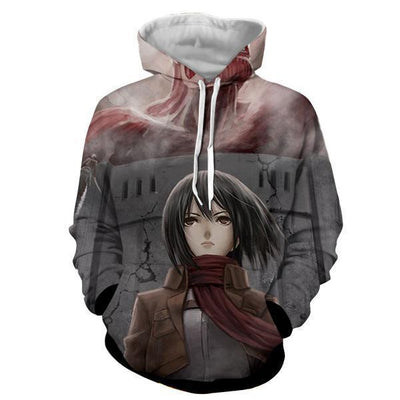 Mikasa Ackermann Attack On Titan 3D Hoodie