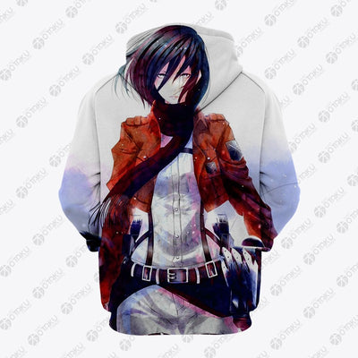 Mikasa Attack On Titan Blood Hoodie- Attack On Titan 3D Hoodie