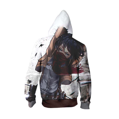 Mikasa Scout Regiment Zip Up Hoodie - Attack on Titan Zip Up Hoodie