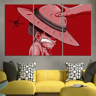 Monkey D. Luffy Red Canvas - One Piece 3D Printed Canvas