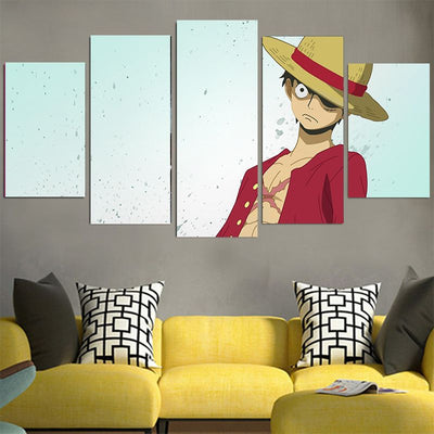 Monkey D. Luffy in Red Shirt Canvas - One Piece 3D Printed Canvas