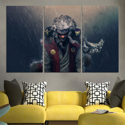 Jiraiya Standing In Rain Canvas - 3D Printed Naruto Canvas