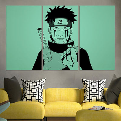 Obito Uchiha Bleeding From Eyes Canvas - 3D Printed Naruto Canvas