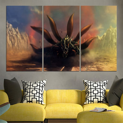 Naruto Nine Tails Cloak Transformation Canvas - 3D Printed Naruto Canvas