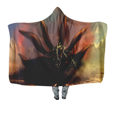 Naruto Nine Tails Cloak Transformation - 3D Printed Naruto Hooded Blanket