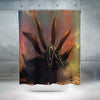 Nine Tails Cloak Transformation Shower Curtain - 3D Printed Naruto Shower Curtain