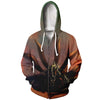 Naruto Hoodie - Nine Tails Cloak Transformation -Zip Up Hoodie & T-Shirt