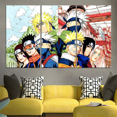 Naruto 7 Hokage Canvas - 3D Printed Naruto Canvas