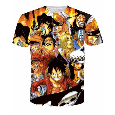 Newest Cool Anime One Piece Characters Monkey D. Luffy 3D T-shirt