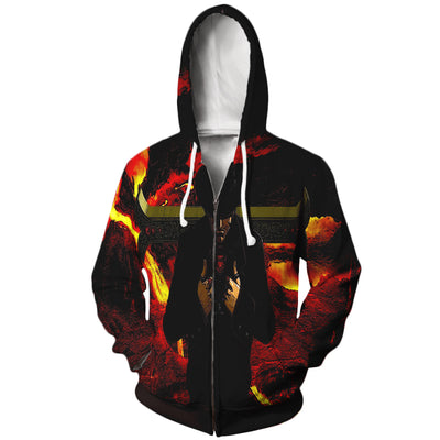 One Piece Hoodie - Mihawk Dressed in black suit - Zip Up Hoodie & T-Shirt