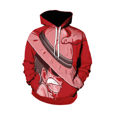 One Piece Hoodie - Shanks giving his hat to young crying Luffy - Zip Up Hoodie & T-Shirt